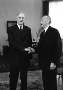 Bonn, Konrad Adenauer et Charles de Gaulle, 1958