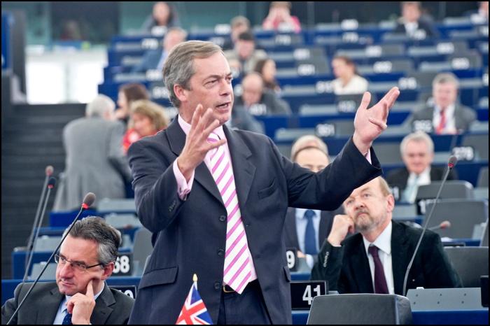 Nigel Farage, chef du Parti pour l'indépendence du Royaume-Uni (UKIP)