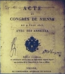 Final protocol of the Vienna Congress