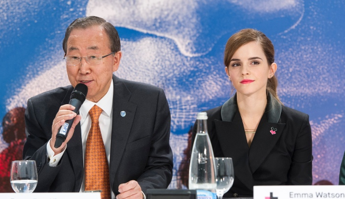 """SG speaks at the UN women Press COnf.  Emma Watson Press Conference – announcement of HeForShe IMPACT 10x10x10 Pilot Programme Moderator:  Ms. Elizabeth Nyamayaro, UN Women Remarks by the Secretary-General                            Remarks by H.E. Mr. Paul Kagame, President of Rwanda   Remarks by H.E. Mr. Stefan Lofven, Prime Minister of Sweden Ms. Phumzile Mlambo-Ngcuka, Executive Director, UN Women  Ms. Emma Watson, UN Women Global Goodwill Ambassador  MDG Advocates Event on Vulnerability (Venue: Kirchner Museum)  10:10 – 10:30Preparatory discussion for the WEF Plenary Session with Prof. Klaus Schwab, Founder and Executive Chairman, World Economic Forum, Mr. Jim Yong Kim, President of the World Bank and Ms. Christine Lagarde, Managing Director of the IMF (Venue: Congress Centre, Speakers room) 10:30 – 11:30WEF Plenary Session: """"Tackling Climate, Development and Growth"""""""